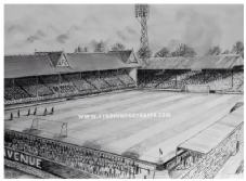 Bradford Park Avenue pencil drawing print on 20'' x 30'' Box Canvas